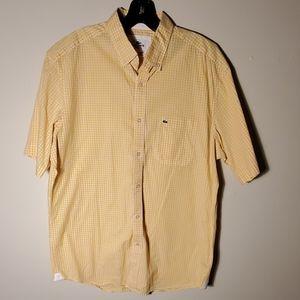 lacoste men polo dress shirt size 42